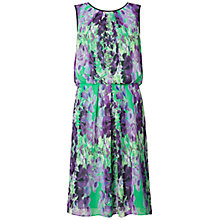 Buy Adrianna Papell Floral Dress, Jade Black Online at johnlewis.com