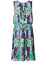 Adrianna Papell Floral Dress, Jade Black