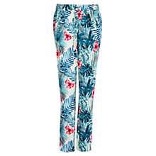 Buy Mango Tropical Print Trousers, Medium Blue Online at johnlewis.com
