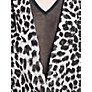 Buy Mango Leopard Print Chiffon Dress, Black Online at johnlewis.com