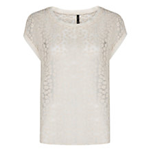 Buy Mango Floral Blouse, Natural White Online at johnlewis.com