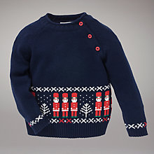 Buy John Lewis Fair Isle Soldier Jumper, Navy/Multi Online at johnlewis.com
