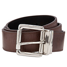Buy Polo Ralph Lauren Reversible Leather Belt, Black/Brown Online at johnlewis.com