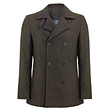 Buy John Lewis Herringbone Buckle Neck Coat, Natural Online at johnlewis.com
