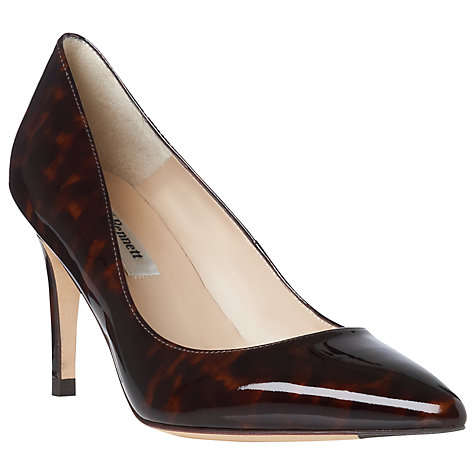 Buy L.K. Bennett Florete Chisel Toe Court Shoes, Patent Tortoiseshell Online at johnlewis.com