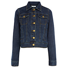 Buy Oasis Button Denim Western Jacket, Denim Blue Online at johnlewis.com