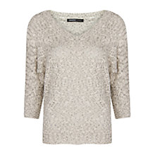 Buy Mango Cotton Flecked Jumper, Grey Online at johnlewis.com