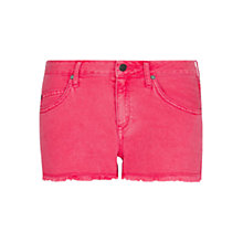 Buy Mango Frayed Hem Shorts, Geranium Online at johnlewis.com