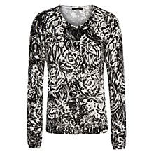 Buy Mango Floral Print Cardigan, Black Online at johnlewis.com