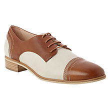Buy NW3 by Hobbs Aubrey Derby Shoes, Tan/Ivory Online at johnlewis.com