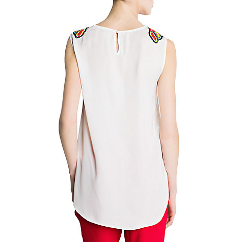 Buy Mango Masai Top, Neutral Online at johnlewis.com