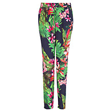 Buy Mango Floral Print Baggy Trousers, Navy Online at johnlewis.com
