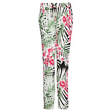 Buy Mango Print Leaf Baggy Trousers, Green Online at johnlewis.com
