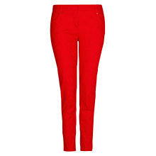 Buy Mango Slim Fit Jacquard Trousers, Bright Red Online at johnlewis.com