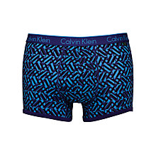 Buy Calvin Klein Underwear ck one Cotton Weave Trunk, Blue/Navy Online at johnlewis.com