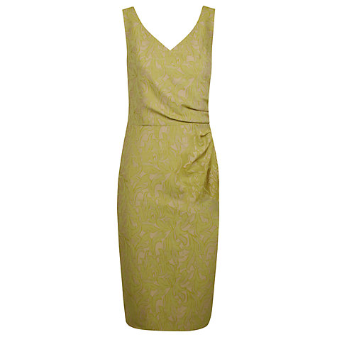 Buy Alexon Print Jacquard Dress, Green Online at johnlewis.com
