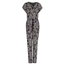 Buy Mango Paisley Print Jumpsuit, Black Online at johnlewis.com