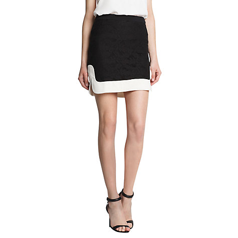 Buy Mango Lace Combination Skirt, Black Online at johnlewis.com