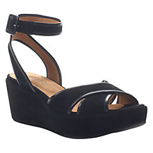 Buy Hobbs London Emmie Sandals, Black Online at johnlewis.com