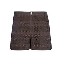 Buy Mango Guipure Shorts, Medium Beige Online at johnlewis.com