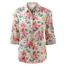 Buy East Lillian Print Cotton Shirt, Cream Online at johnlewis.com