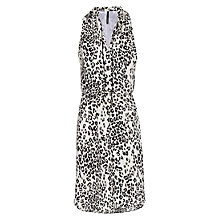 Buy Mango Mao Collar Leopard Print Dress, Natural White Online at johnlewis.com