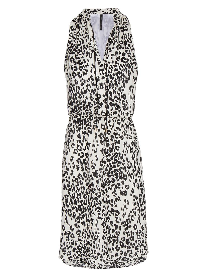 mango mao collar leopard print dress natural white, mango, mao, collar, leopard, print, dress, natural, white, 12 8 14 6 10, women, womens dresses, womens holiday shop, sunshine style tribal, 515081