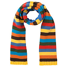 Buy John Lewis Boy Striped Scarf, Multi/Yellow Online at johnlewis.com
