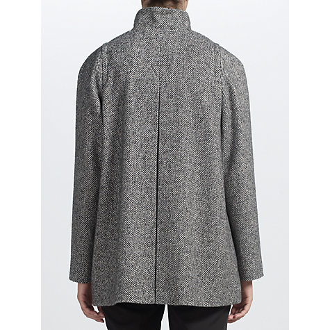 Buy John Lewis Funnel Neck Tweed Jacket, Black Tweed Online at johnlewis.com