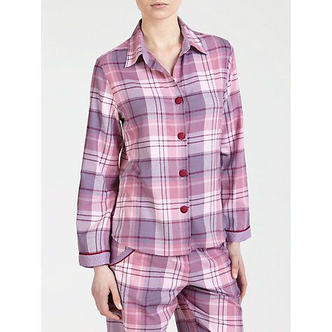 Buy Cyberjammies Blackberry Blush Checked Pyjama Top, Purple/Pink Online at johnlewis.com