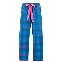 Buy Cyberjammies Sole Statement Checked Pyjama Bottoms, Blue Online at johnlewis.com