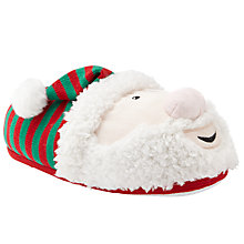 Buy John Lewis Santa Slippers, Red/Green/White Online at johnlewis.com