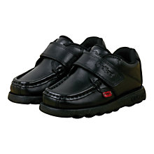 Buy Kickers Fragma Strap Shoes, Black Online at johnlewis.com