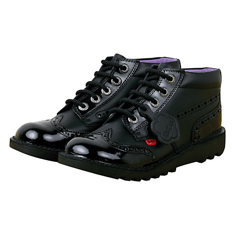 Buy Kickers Kick Brogue Boots, Black Online at johnlewis.com