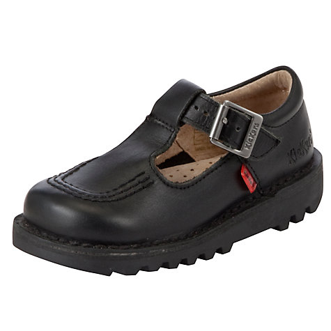 Buy Kickers Kick T Bar Shoes, Black Online at johnlewis.com