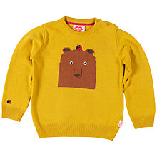 Buy Tootsa Macginty Bear Jacquard Knit Jumper, Mustard Online at johnlewis.com