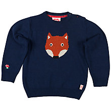 Buy Tootsa Macginty Fox Jacquard Knit Jumper, Navy Online at johnlewis.com