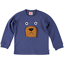 Buy Tootsa Macginty Bear Sweatshirt, Blue Online at johnlewis.com