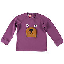 Buy Tootsa MacGinty Bear Sweatshirt, Purple Online at johnlewis.com
