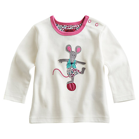 Buy Baby Joule Long Sleeved Pipsqueak Top, Cream Online at johnlewis.com