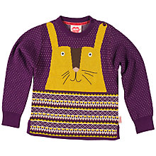 Buy Tootsa MacGinty Rabbit Knit Jumper, Purple Online at johnlewis.com