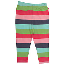 Buy Frugi Girls' Organic Cotton Striped Leggings, Multi Online at johnlewis.com
