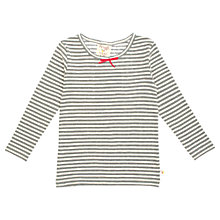Buy Frugi Girls' Organic Cotton Striped Long Sleeved Top, Grey Online at johnlewis.com