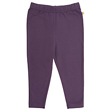 Buy Frugi Girls' Organic Cotton Leggings, Plum Online at johnlewis.com