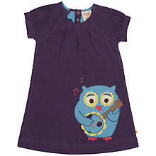 Buy Frugi Girls' Organic Cotton Corduroy Owl Dress, Plum Online at johnlewis.com