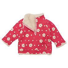 Buy Frugi Girls' Organic Cotton Reversible Fleece, Raspberry Online at johnlewis.com