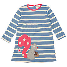 Buy Frugi Girls' Organic Cotton Squirrel Dress, Blue Online at johnlewis.com