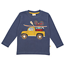 Buy Frugi Organic Cotton Pick Up Truck Top, Indigo Online at johnlewis.com