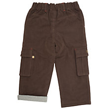 Buy Frugi Organic Cotton Lined Combat Trousers, Chocolate Online at johnlewis.com