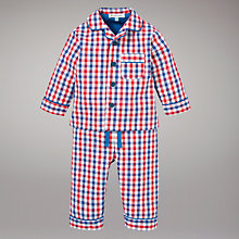 Buy John Lewis Gingham Brushed Cotton Pyjamas, Red Online at johnlewis.com